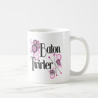 Baton Twirler Circle Swirls Coffee Mug