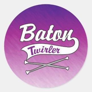 Baton Twirler Classic Round Sticker