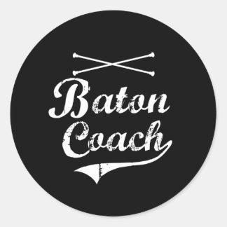Baton Twirler Coach Classic Round Sticker