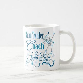 Baton Twirler Coach Swirly Coffee Mug