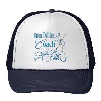 Baton Twirler Coach Swirly Hats