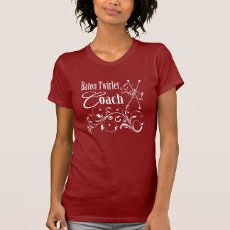Baton Twirler Coach Swirly T-shirts