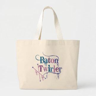 Baton Twirler Distressed Canvas Bag