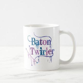 Baton Twirler Distressed Coffee Mug