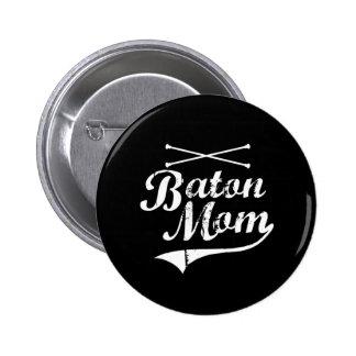 Baton Twirler Mom Button