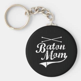 Baton Twirler Mom Keychain