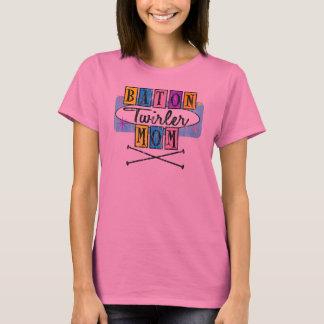 Baton Twirler Mom Retro T-Shirt