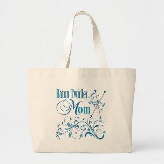 Baton Twirler Mom Swirly Jumbo Tote Bag