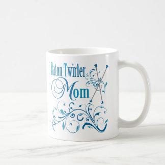 Baton Twirler Mom Swirly Coffee Mug
