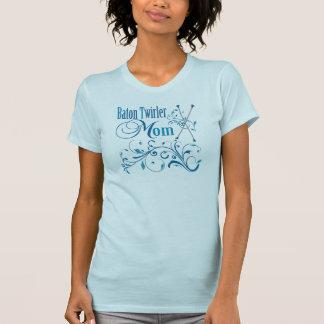 Baton Twirler Mom Swirly T-shirts