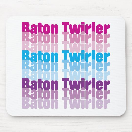 Baton Twirler Mouse Pad