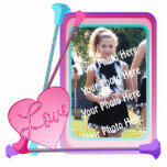 "Baton Twirler Photo Frame Cutout<br><div class=""desc"">Colorful Baton photo frame,  customizable with your favorite picture,  make it into an ornament,  a keychain,  or a freestanding frame.  Makes a wonderful personalized gift for the birthdays and holidays.</div>"