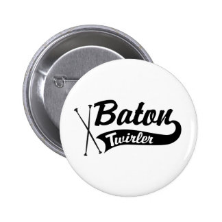 Baton Twirler Pinback Button