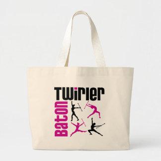 Baton Twirler Square Canvas Bags