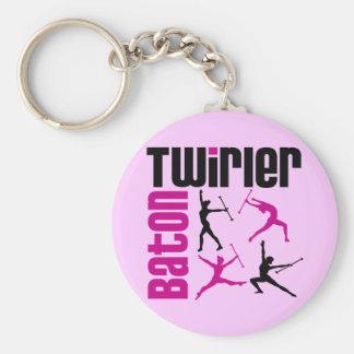 Baton Twirler Square - Customized Keychain