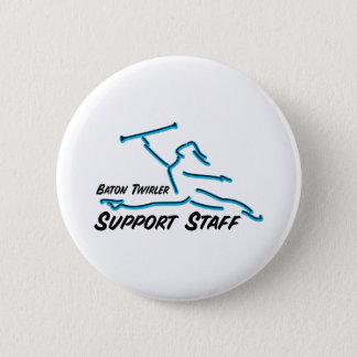 Baton Twirler Support Staff Button