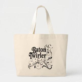 Baton Twirler Swirly Canvas Bags