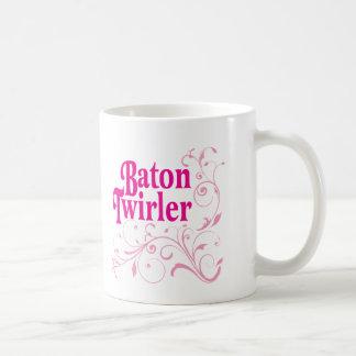 Baton Twirler Swirly Coffee Mug