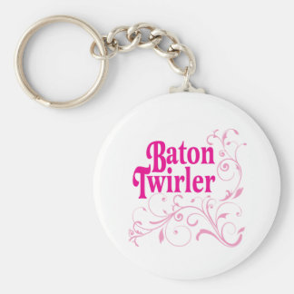Baton Twirler Swirly Keychain
