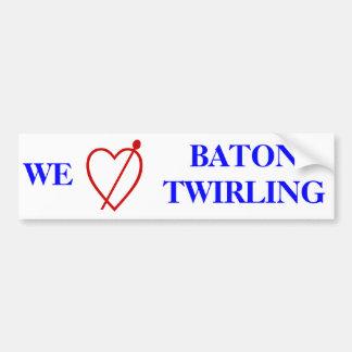Baton Twirling Bumper Sticker