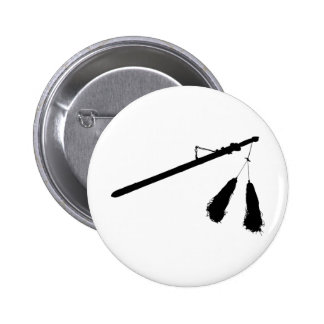 Baton with Tassel Outline Silhouette Pinback Button