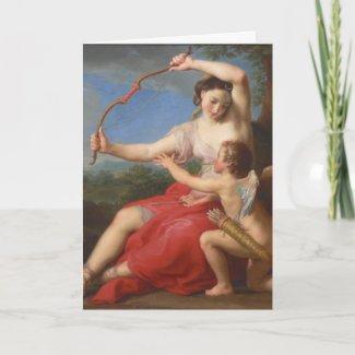 Batoni 1708-1787 Diana & Cupid Card card