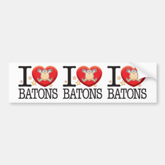 Batons Love Man Bumper Sticker