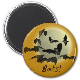 Bats! 2 Inch Round Magnet