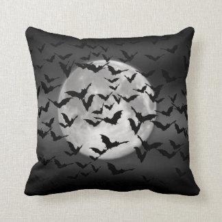 Bats and a Full Moon Throw Pillows