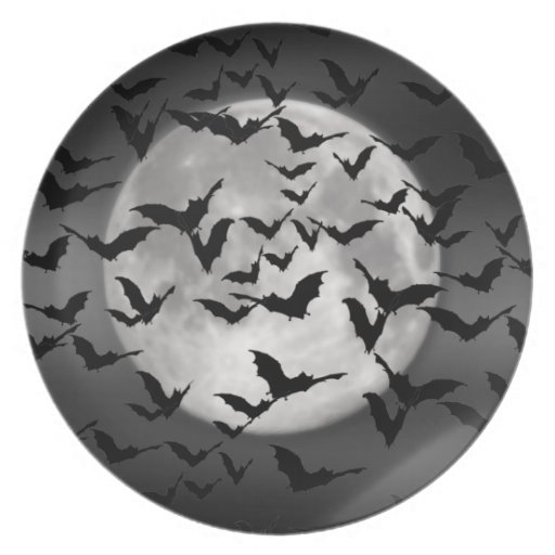 Bats and a Full Moon Party Plate