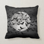 Bats and a Full Moon Throw Pillows