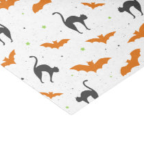 Bats and Cats Halloween Tissue Paper