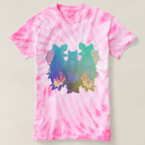 Bats and Flowers Pink T-shirt