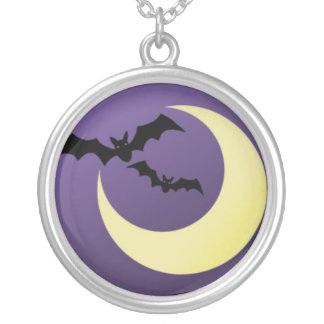 Bats and Moon Necklace