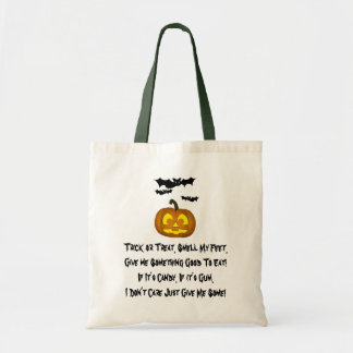 Bats and Pumpkin Trick or Treat Bag
