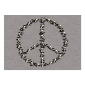 Bats and Skulls Peace Sign Large Business Card