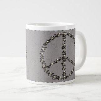Bats and Skulls Peace Sign Large Coffee Mug