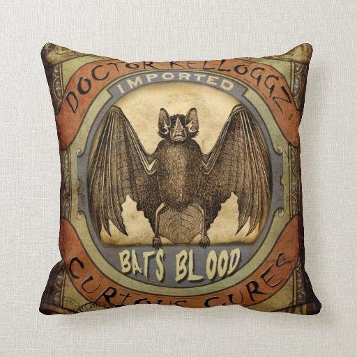 Bats Blood Throw Pillows