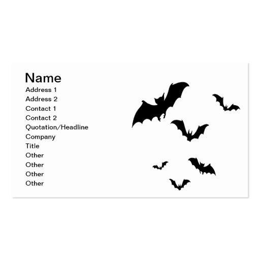 Bats Business Card Templates