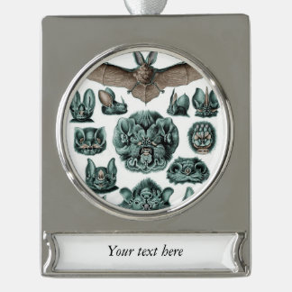 Bats by Ernst Haeckel Silver Plated Banner Ornament