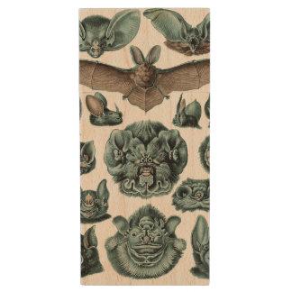 Bats by Ernst Haeckel Wood USB Flash Drive
