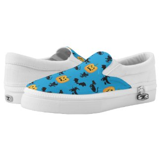 Bats Cats Witches Jack o Lanterns Printed Shoes