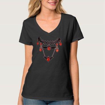 Halloween Themed Bats Chain Black T-Shirt