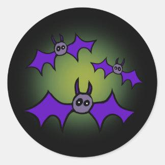 Bats! Classic Round Sticker