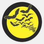 Bats Classic Round Sticker