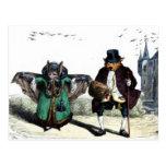 Bats Dressed Like People Post Card