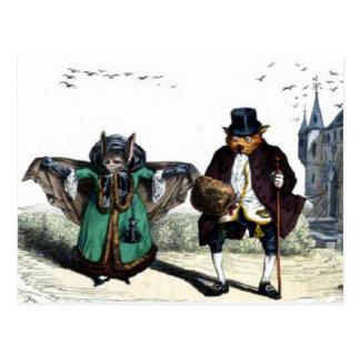 Bats Dressed Like People Postcard