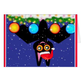 Bats First Christmas Greeting Card