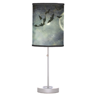 Bats flying in the night desk lamp