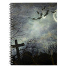 Bats flying in the night notebook
